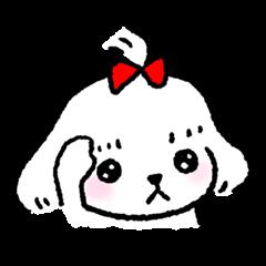 A Maltese dog's Sticker