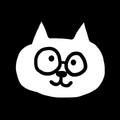 white cat glasses