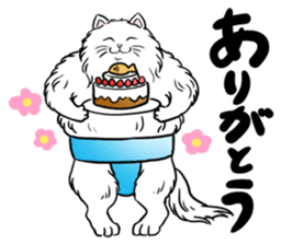 Cat Sumo Wrestlers sticker #11017318