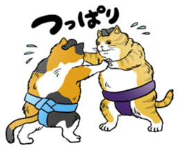 Cat Sumo Wrestlers sticker #11017343