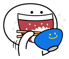 "Smile Person ""Big Mouth"" sticker #11017436"
