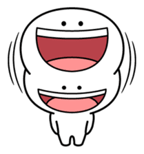 "Smile Person ""Big Mouth"" sticker #11017447"
