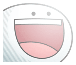 "Smile Person ""Big Mouth"" sticker #11017458"
