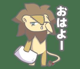 "The Stuffed  Lion ""Ronetia"" Sticker sticker #11041680"