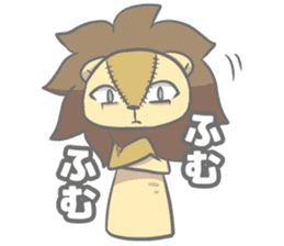 "The Stuffed  Lion ""Ronetia"" Sticker sticker #11041681"
