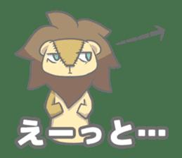 "The Stuffed  Lion ""Ronetia"" Sticker sticker #11041683"