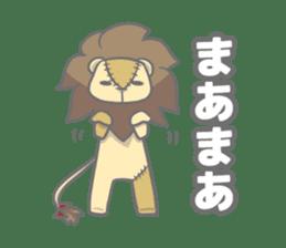 "The Stuffed  Lion ""Ronetia"" Sticker sticker #11041689"