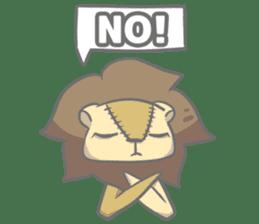 "The Stuffed  Lion ""Ronetia"" Sticker sticker #11041692"
