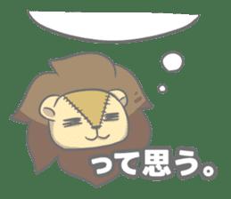 "The Stuffed  Lion ""Ronetia"" Sticker sticker #11041694"