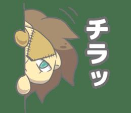"The Stuffed  Lion ""Ronetia"" Sticker sticker #11041695"