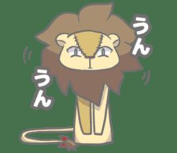 "The Stuffed  Lion ""Ronetia"" Sticker sticker #11041698"