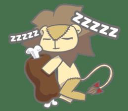 "The Stuffed  Lion ""Ronetia"" Sticker sticker #11041701"