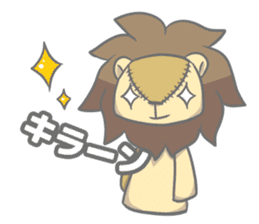 "The Stuffed  Lion ""Ronetia"" Sticker sticker #11041702"