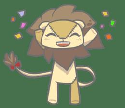 "The Stuffed  Lion ""Ronetia"" Sticker sticker #11041703"