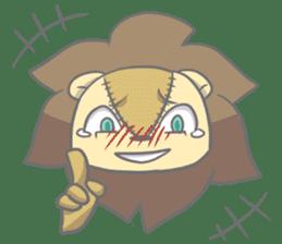 "The Stuffed  Lion ""Ronetia"" Sticker sticker #11041704"