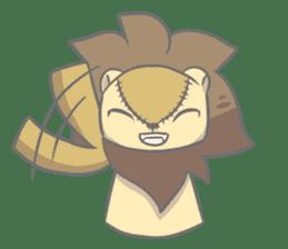 "The Stuffed  Lion ""Ronetia"" Sticker sticker #11041706"