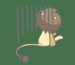 "The Stuffed  Lion ""Ronetia"" Sticker sticker #11041710"