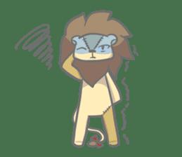 "The Stuffed  Lion ""Ronetia"" Sticker sticker #11041713"