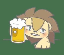 "The Stuffed  Lion ""Ronetia"" Sticker sticker #11041717"