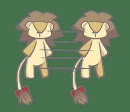 "The Stuffed  Lion ""Ronetia"" Sticker sticker #11041719"