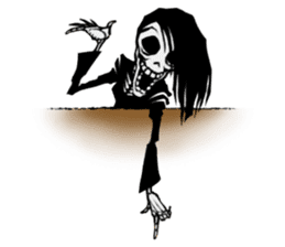 skeleton_girl_2 sticker #11063700