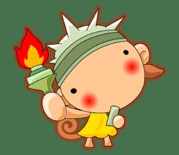 Monkey grumble sticker #11067809