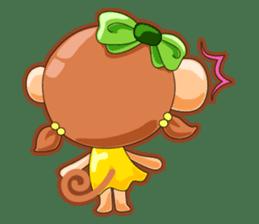 Monkey grumble sticker #11067822