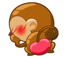 Monkey grumble sticker #11067838