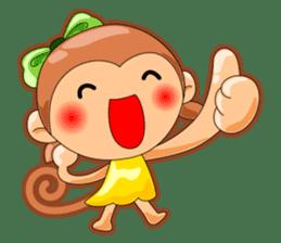 Monkey grumble sticker #11067839