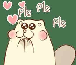 lovely beaver (Eng) sticker #11073114