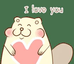 lovely beaver (Eng) sticker #11073117