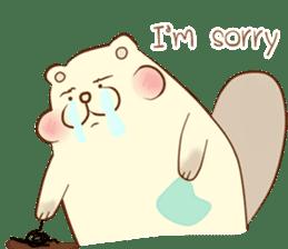 lovely beaver (Eng) sticker #11073122