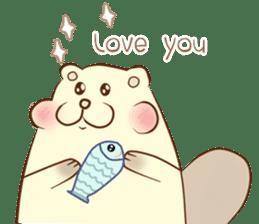 lovely beaver (Eng) sticker #11073126