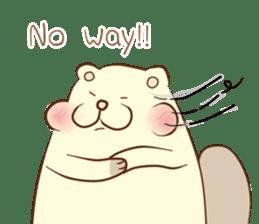 lovely beaver (Eng) sticker #11073138