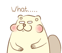 lovely beaver (Eng) sticker #11073139