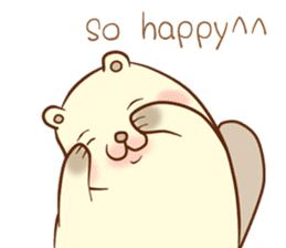 lovely beaver (Eng) sticker #11073149