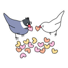 Paddybird couple Copyright (C) 2014 uenosora| elPortale | Sell LINE Sticker, Sell LINE Theme