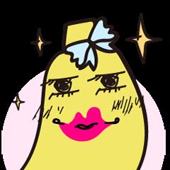 Apple & Lemon & Banana HSUEN YU PEI  elPortale   Sell LINE Sticker, Sell LINE Theme