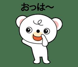 Bear of curly hair sticker #11096400
