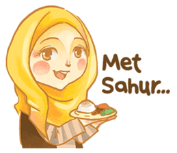 Annisa Hijab Girl : Ramadhan Edition sticker #11097123