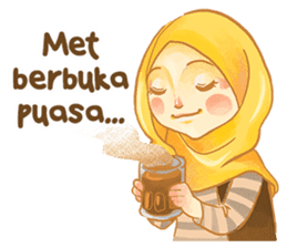 Annisa Hijab Girl : Ramadhan Edition sticker #11097124