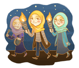 Annisa Hijab Girl : Ramadhan Edition sticker #11097147