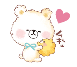 Popcorn Bear friends sticker #11104842