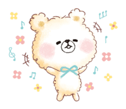 Popcorn Bear friends sticker #11104851