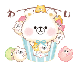 Popcorn Bear friends sticker #11104854