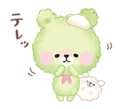 Popcorn Bear friends sticker #11104856