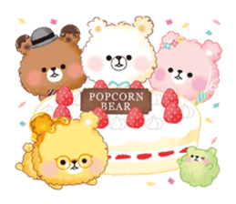 Popcorn Bear friends sticker #11104859
