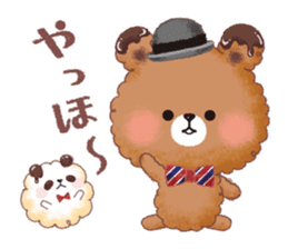 Popcorn Bear friends sticker #11104862
