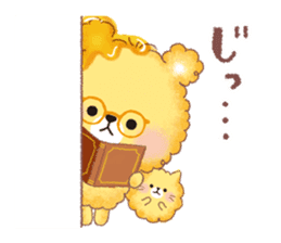 Popcorn Bear friends sticker #11104864