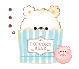 Popcorn Bear friends sticker #11104866